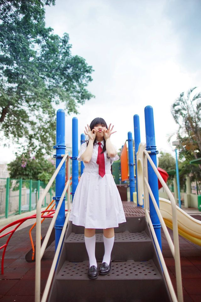 【Hong Kong School Uniform Vol.4】俏皮小花