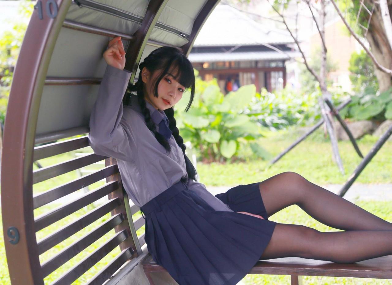 黒パンスト淡江高中女子校生