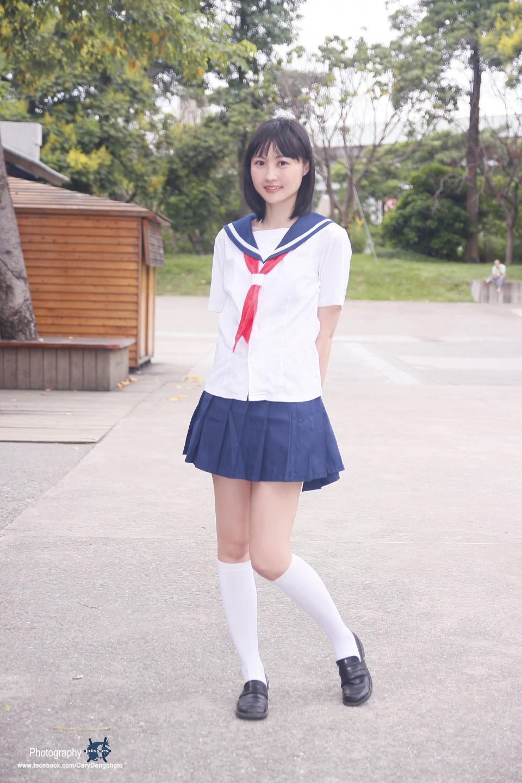 日系女孩水手制服