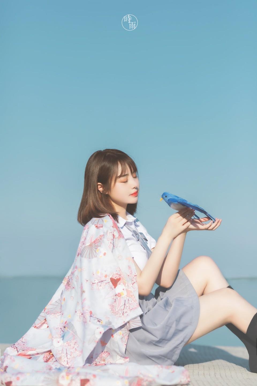 藍天白雲與 JK